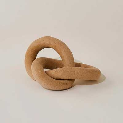 We Infinity Knot Collection Infinity Knot Stoneware Speckled 7X6X4 - West Elm