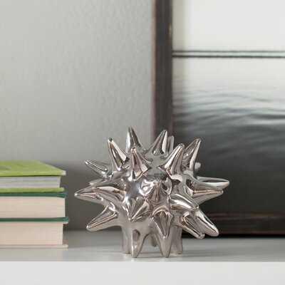 "Hamblen Urchin Shiny Silver Object, 7"" H x 7"" W x 7"" D - Wayfair"