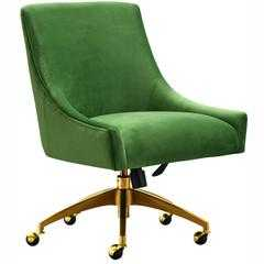 Beatrix Swivel Office Chair, Green - High Fashion Home