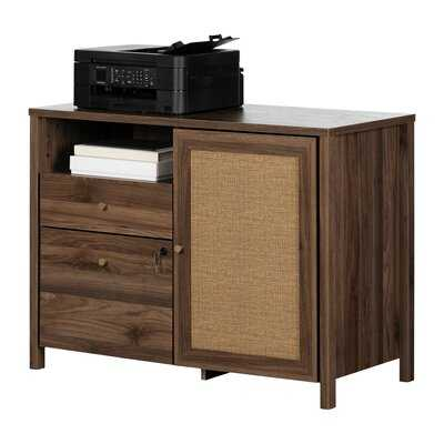 Talie 2-Drawer Credenza With Open And Closed Storage - Wayfair