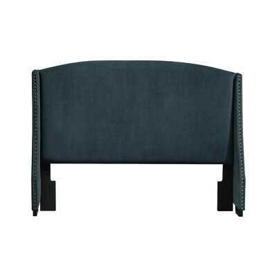 Shelter Style Upholstered Wingback Queen Headboard In Lunar Linen Beige - Wayfair