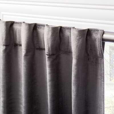 "Cotton Viscose Dark Grey Panel 48""x108"" - CB2"
