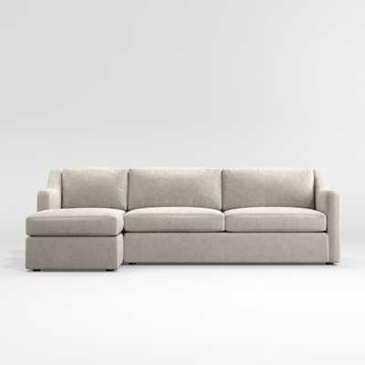 Notch 2-Piece Sectional - Crate and Barrel