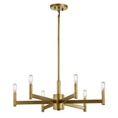 KICHLER Erzo 6-Light Natural Brass Chandelier - Home Depot