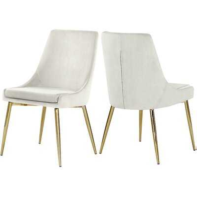 Karina Upholstered Dining Chair (Set of 2) - Wayfair