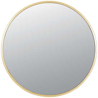 "Varaluz Casa Cottage Gold 30"" Round Wall Mirror - Style # 86D50 - Lamps Plus"