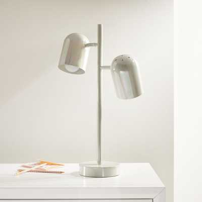White Iridescent Touch Table Lamp - Crate and Barrel