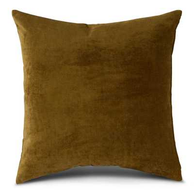 Greendale Home Fashions Solid Juniper Velvet 24 in. x 24 in. Square Throw Pillow Cover - Home Depot
