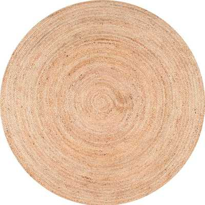 nuLOOM Rigo Chunky Loop Jute Tan 5ft. Round Rug, Natural - Home Depot