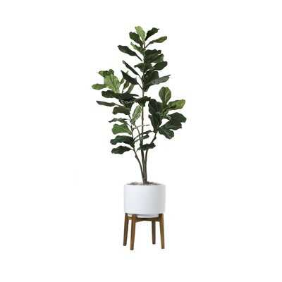 "72"" Artificial Fiddle Leaf Fig Tree in Planter - Wayfair"