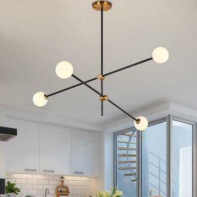 Glenam 4 - Light Sputnik Modern Linear Chandelier - Wayfair