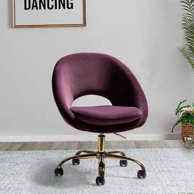 Lourdes Velvet Task Chair - Wayfair