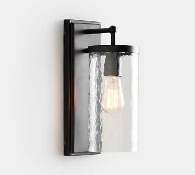 Duvall Recycled Glass Indoor/Outdoor Sconce, Bronze - Pottery Barn