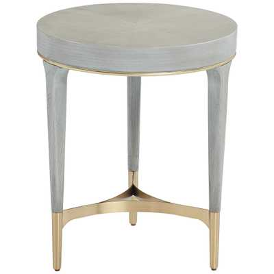 Danton Gray Round Side Table - Style # 79N10 - Lamps Plus