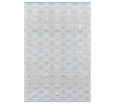 Theros Recycled Material Rug, 5 x 8', Light Blue - Pottery Barn