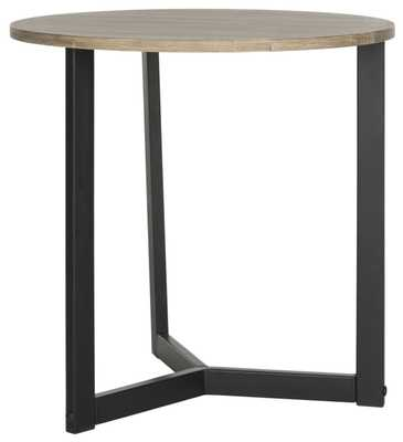 Leonard Mid Century Modern Wood End Table - Oak/Black - Arlo Home - Arlo Home