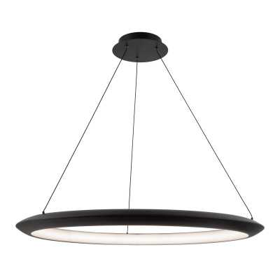 Modern Forms The Ring 1 - Light Unique Globe LED Pendant Integrated LED Color Temperature: 3500K, Finish: Black - Perigold