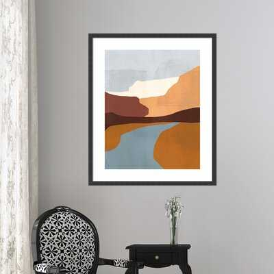 'Sedona Colorblock IV' by Victoria Borges - Picture Frame Print on Paper - AllModern