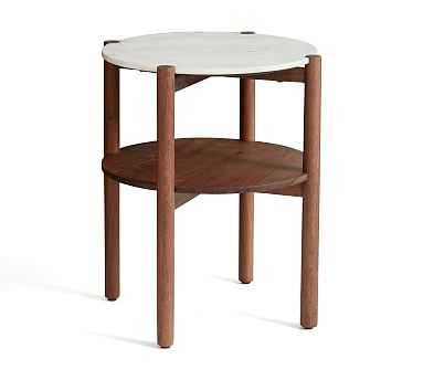 Bloomquist Round Marble End Table - Pottery Barn