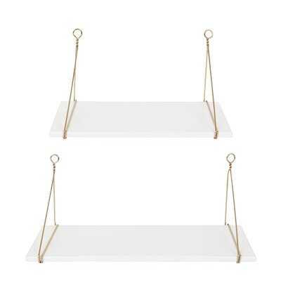 Lalonde 2 Piece Bracket Shelf - Wayfair