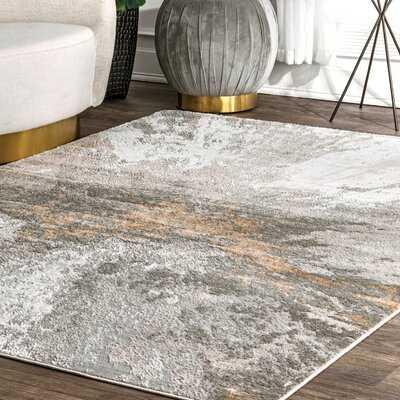 Ogrady Abstract Gray Area Rug - Wayfair