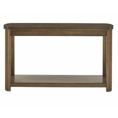 Manel Walnut Finish Sofa Table With Shelf - Wayfair