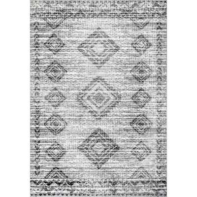 nuLOOM Presley Faded Aztec Gray 8 ft. x 10 ft. Area Rug - Home Depot
