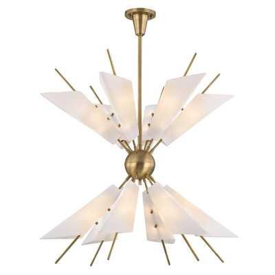 Cooper 24 Light Sputnik Chandelier Finish: Aged Brass - Perigold