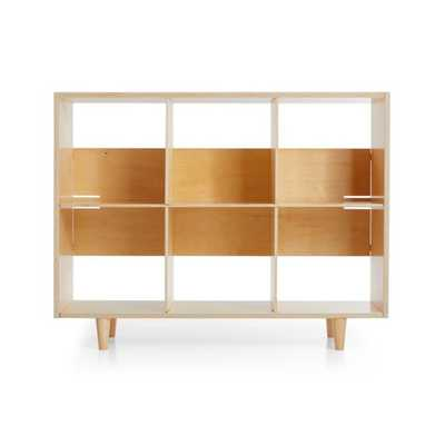 Sprout Natural 6 Cubby Birch Bookcase - Crate and Barrel