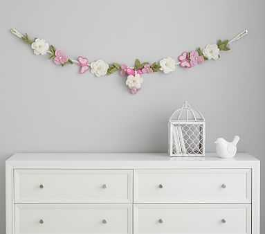 Felted Wool Floral Garland - Pottery Barn Kids