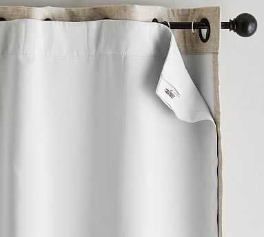 """Universal Blackout Curtain Liner, 50 x 84"""", Off White - Pottery Barn"""