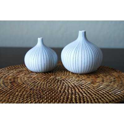 "2 Piece Caughfield 2.56"" Porcelain Table Vase Set - Wayfair"