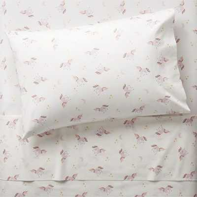 Organic Unicorn Twin Sheet Set - Crate and Barrel