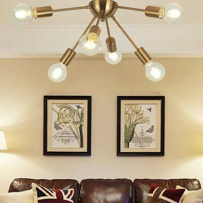 "Rollins 6 - Light 26.77"" Semi Flush Mount - Wayfair"