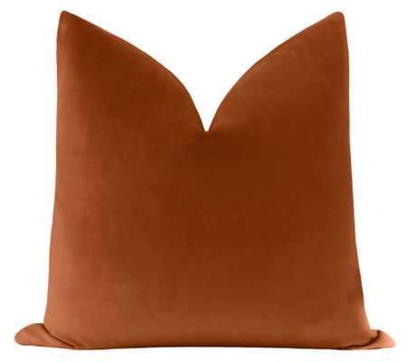 "Classic Velvet // Terracotta - 18"" X 18"" - Little Design Company"