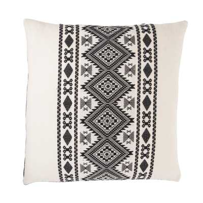 Marcos Tribal Black/ White Throw Pillow 22 Inch Fill Material: Polyester - Perigold