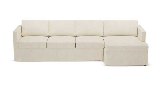 Slipcover Sectional | Right | Talc Linen - The Inside