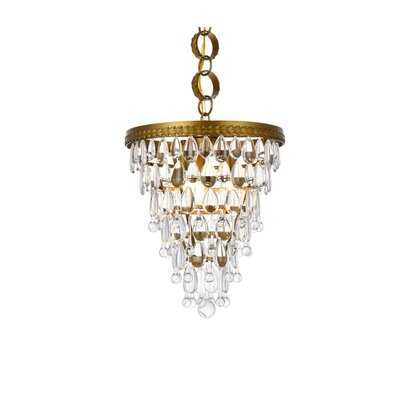 Rutha 3 - Light Unique / Statement Tiered Chandelier with Crystal Accents - Wayfair