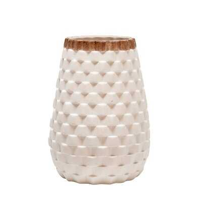 "White 9"" Ceramic Table Vase - Wayfair"
