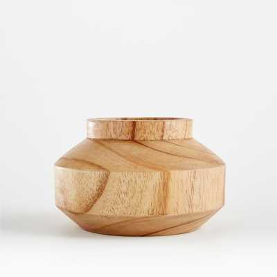 Orla Small Natural Wood Vase - Crate and Barrel