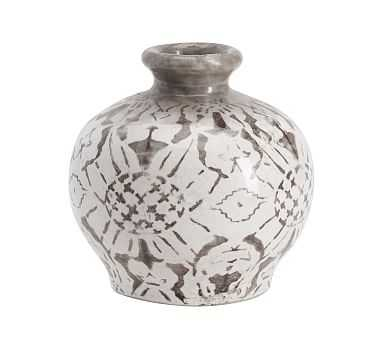 Collette Floral Vase, Gray, Bud - Pottery Barn