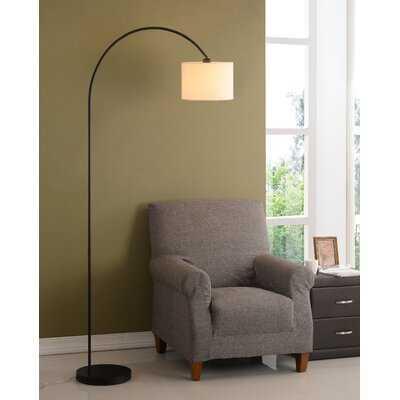 """Montes 80"""" Arched Floor Lamp - Antique Brass - Birch Lane"""