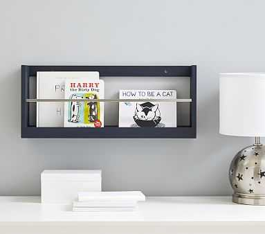 Weathered Navy Booksmart Shelving, 2' Shelf - Pottery Barn Kids