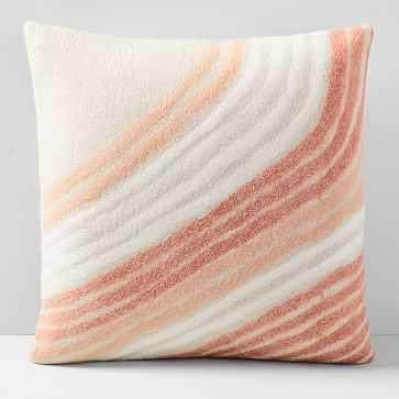 "Felt Radiating Corner Pillow Cover, 20""x20"", Almost Apricot - West Elm"