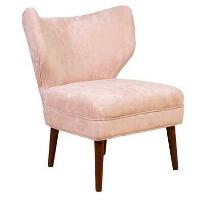 Caples Microfiber Wingback Chair - Wayfair