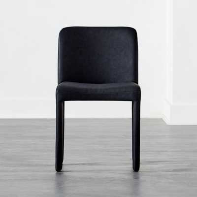 Hide Faux Leather Black Dining Chair - CB2
