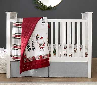 Kendall Convertible Crib, Weathered White, UPS - Pottery Barn Kids