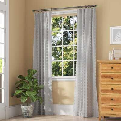 Levesque Sheer Rod Pocket Single Curtain Panel - AllModern