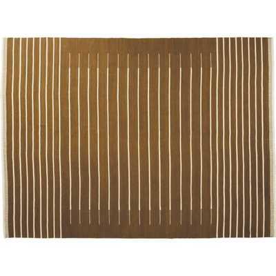 Copper with White Stripe Rug 9'x12' - CB2