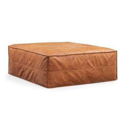 Marvale Leather Pouf - Wayfair